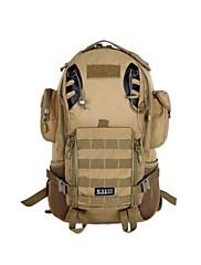 屋外の防水ナイロン袋鋼60リットルプロの登山バッグ大容量のバックパック