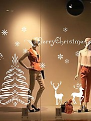 Wall Stickers Wall Decals, Christmas Tree Deer Home Decoration PVC Wall Stickers