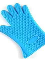 増粘マイクロ焙煎ツールマイクロ波断熱手袋型シリコーン、27センチメートル* 14センチメートル*の0.5センチメートル(アソートカラー)