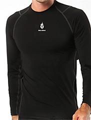 男性の長い袖のベースアンダーシャツ通気性のサイクリングジャージwolfbike