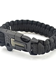 Outdoor Camping Survival Gear Paracord Brecelet Magnesium Stone Flint Fire Starter Whistle Knife Buckles