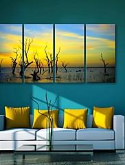 e-HOME® plátně umění soumraku dekorativní malba set 4