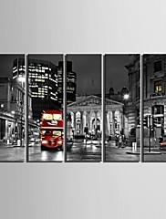 e-HOME® plátně umění městské ulice dekorace malování set 5
