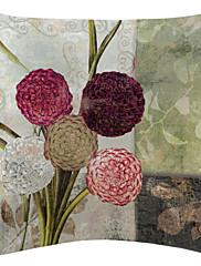 okrugli cvijeće baršun dekorativne jastučnicu