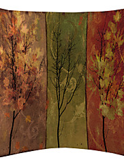 twopages® crveni postupna promjena drvo uzorak baršuna ukrasne jastučnicu