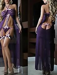 女性のパーティーのネグリジェのレースのドレスの長いランジェリーベビードールパジャマ1サイズ