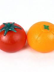 オレンジ+トマトスタイルベントおもちゃ - オレンジ+赤(ペア)