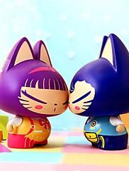 ガールフレンドのための創造的な贈り物の家の装飾の車の装飾車のスタイリングの誕生日プレゼント用zhuaimaoアクションフィギュアのおもちゃ(2個)