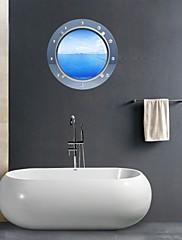3D samolepky na zeď na stěnu, okořeněnou koupelna výzdoba nástěnná pvc samolepky na zeď