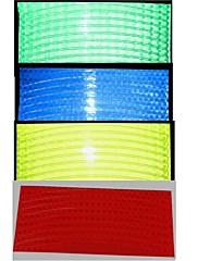multi-color lesklá dýha motocykl kolo reflexní páska hora dekorační kolo nálepka