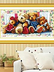 家族の3D綿クロスステッチキット刺繍の花DIY手作り塗装裁縫セットを負担(66 * 38センチメートル、11CT)