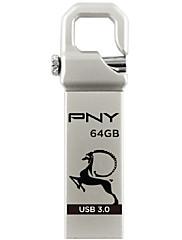 PNYフックアタッシュケースヤギ(限定版)USB 3.0 64ギガバイトのフラッシュペンドライブメタルスタイル