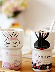 milovníci kreslených čajové šálky za svatební dar 7,4 * 5,7 * 12,2