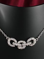 売れ筋パーティー/カジュアル金は、男性と女性のためのペンダントネックレスの結婚式の宝石類をめっきしました