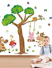 nástěnné samolepky lepicí obrazy na stěnu ve stylu kreslený zvíře houpačka PVC samolepky na zeď