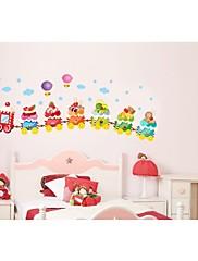 zmrzlina vlak pro dětský pokoj Lepicí obraz na stěnu zooyoo769 dekorativní odstranitelné PVC stěna nálepka