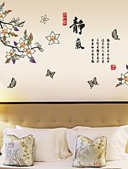 samolepky na zeď lepicí obrazy na stěnu ve stylu motýli létají kolem květiny pvc samolepky na zeď