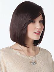 自然な高品質のキャップレスショートストレートモノトップ人間の髪の毛は、選べる4色かつら