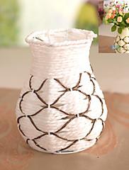 decoración de estilo ratán florero artificial arreglo floral hogar / de la boda (color al azar)
