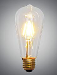 レトロなヴィンテージの芸術2ワットの2xcobの2700K E27は、フィラメント電球主導の産業用白熱電球を導いた(AC220V)