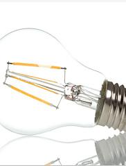 4W E26/E27 LED žárovky s vláknem A60(A19) 4 High Power LED 400LM lm Teplá bílá / Chladná bílá Ozdobné AC 220-240 V 1 ks