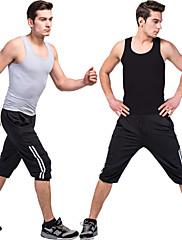 男性用 / 男女兼用 - 透湿性 / wicking - ヨガ / フィットネス - 洋服セット/スーツ ( ホワイト / グレー / ブラック / ロイヤルブルー / レッドワイン / アーミーグリーン ) - ノースリーブ