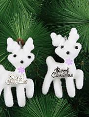 """10ks / sada 11 * 6,5 cm / 4.3 * 2.5 """"vánoční strom dekorace bílá sobů závěsné ornament pro domácí stranu zdobí"""