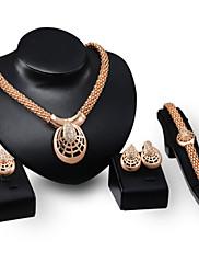 Šperky Náhrdelníky / Küpeler / Prstýnky / Náramek Narozeniny / Zásnuby / Svatební / Párty / Denní / Ležérní Slitina 1Nastavte Zlatá