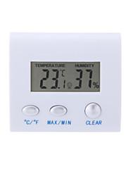LCD digitální vlhkoměr vlhkost teploměr teplota metr hodiny domů vnitřní použití