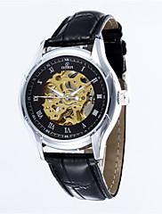 Pánské Náramkové hodinky Automatické natahování Kůže Kapela Černá Značka-