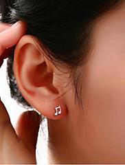 Peckové náušnice Postříbřené imitace Diamond Šperky Svatební Párty Denní Ležérní 2pcs