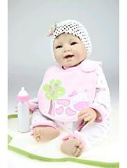 npkdoll生まれ変わった赤ちゃん人形柔らかいシリコーン22inchの55センチメートル磁気口美しいリアルなかわいい男の子の女の子のおもちゃの笑顔王女の牛