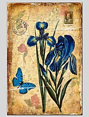 Ručno oslikana Cvjetni / BotaničkiModerna / Klasika / Tradicionalno / Europska Style Jedna ploha Platno Hang oslikana uljanim bojama For