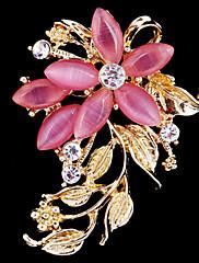 dámská křišťál opál květina brož pro svatební party dekorace šátkem, jemné šperky