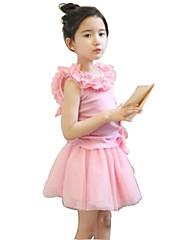 Djevojčice Pamuk Prugasti uzorak Ljeto Bez rukava Setovi Komplet odjeće