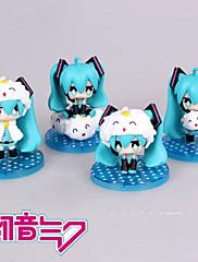 Anime Čísla akce Inspirovaný Vocaloid Hatsune Miku PVC 3.5 CM Stavebnice Doll Toy