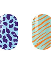 ljubičasta / narančasta šuplje naljepnice za nokte
