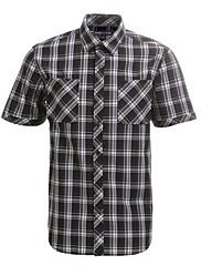JamesEarl 男性 シャツカラー ショート シャツ&ブラウス 黒フェード - DA182029926
