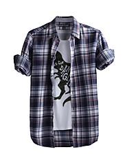 JamesEarl 男性 シャツカラー ロング シャツ&ブラウス ブラウン - DA202049104