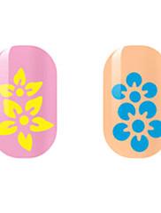 žuta / plava cvijet šuplje noktiju naljepnice
