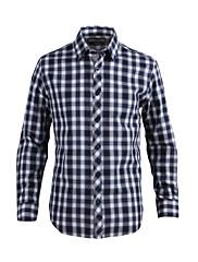 JamesEarl 男性 シャツカラー ロング シャツ&ブラウス ネービー - DA202028727