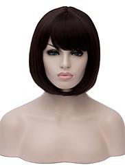 Většina populární módní dáma barva černá krátké bobo rovné vlasy paruka syntetické paruky