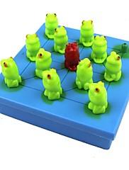 40の質問の子供たちが論理的思考の訓練カエルチェッカーゲームおもちゃパズル