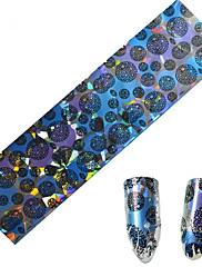 1ks 100 * 4 cm nail art přenosu třpytky samolepky kutilství geometrické magický barevný obraz nail art designu cs01-04