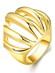 女性 バンドリング ファッション Elegant ジェムストーン ゴールドメッキ 18K 金 幾何学形 ジュエリー 用途 結婚式 パーティー 日常