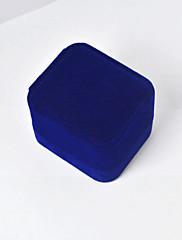 ジュエリーボックス ファブリック 1個 ブルー