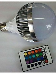 10W E26/E27 LED kulaté žárovky G80 1 High Power LED 700-900 lm R GB Dálkové ovládání AC 85-265 V 1 ks
