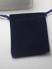 ジュエリーバッグ ファブリック 1個 ブルー