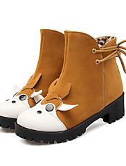 Boty-Koženka-Módní boty-Dámské-Černá Hnědá Žlutá Béžová-Outdoor Kancelář Běžné-Kačenka