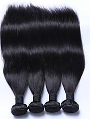 Lidské vlasy Vazby Malajské vlasy Proste 6 měsíců 4 kusy Vazby na vlasy